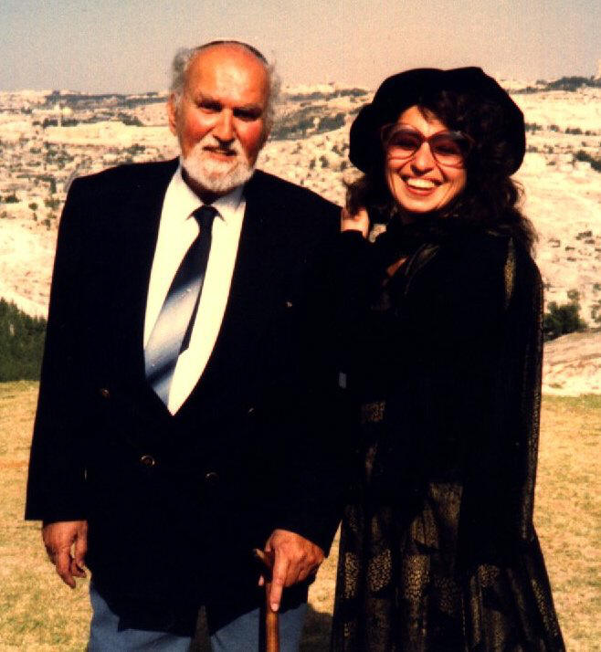 Avraham Shifrin with                wife Eleanora
